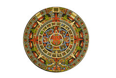 Sacred pre-Columbian Aztec calendar Stock Photos