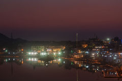Sacred Puskhar lake (Sagar) and ghats of Pushkar Royalty Free Stock Images