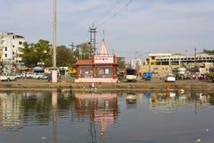 Sacred river Godavari Stock Photo