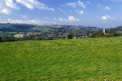 A sacred site along the English countryside in Glastonbury, England Stock Photo