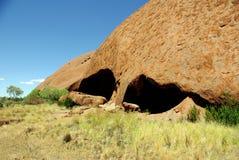 Sacred site on Uluru, Australia Stock Photography