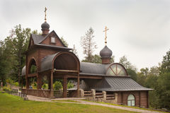 Sacred spring and bath-house at Savvino-Storozhevsky monastery. stock photo