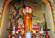 Sacred statue in a temple Stock Photo