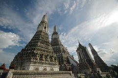 Sacred stupa of Bangkok Dawn Temple Stock Images