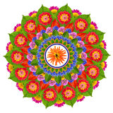 Sacred Sun Lotus mandala Stock Images
