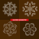 Sacred symbols and geometry for tattoo vector illustration