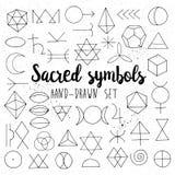 Sacred symbols set isolated Royalty Free Stock Photos