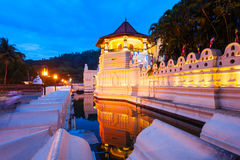 Sacred Tooth Relic Temple. Temple of the Sacred Tooth Relic or Sri Dalada Maligawa in Kandy at sunset. Sacred Tooth Relic Temple is a Buddhist temple located in stock images