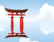 Sacred Torii gates Royalty Free Stock Images