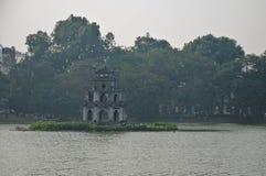 Sacred tortoise and sword returning lake - Ho Kiem lake Hanoi Vi Royalty Free Stock Photography
