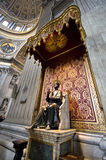 A Sacred Touch of Vatican. Walking around St.Peter's Cathedral in Vatican Royalty Free Stock Photo
