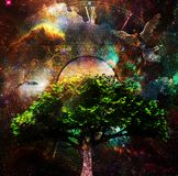 Sacred tree of life Stock Images