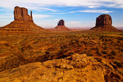 Sacred Valley. These iconic buttes in Arizona's Monument Valley are part of the Navajo Tribal Park Royalty Free Stock Photography