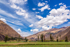 Sacred Valley Fields Stock Photography