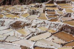 Maras Salt Ponds, Sacred Valley stock photos