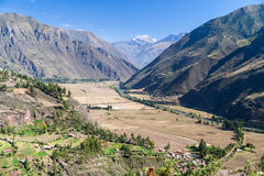 Sacred Valley of the Incas and Urubamba river in  Peru Royalty Free Stock Photography