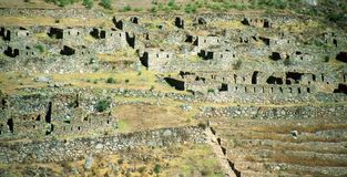 Sacred Valley of the Incas or Urubamba Valley ruin Royalty Free Stock Photo