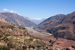 The Sacred Valley. The Urubamba Valley, known as the Sacred Valley, near Cusco, Peru Royalty Free Stock Photo