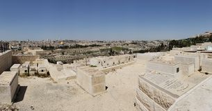 Sacred view from Mt. Of Olives stock photography