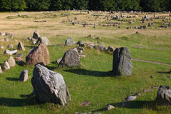 Sacred viking burial ground Stock Image