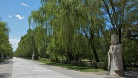 The Sacred Way at Thirteen Ming Tombs in Beijing Stock Photo