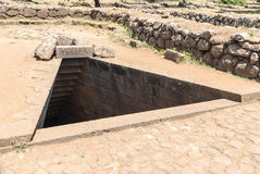 The Sacred Wells. Santa Cristina area, is one of the most beatiful Sardinian archaeological sites.The  major complex includes a nuragic holy well, a nurage and Stock Image