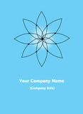 Sacred Yoga Geometric Icon - Blue Stock Photo