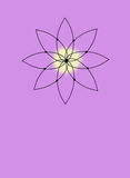 Sacred Yoga Icon on Lavender. With room for your own type at the bottom Stock Photography