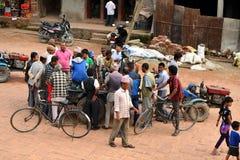Sacrifício animal em Nepal Fotografia de Stock Royalty Free