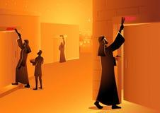 Sacrifício da páscoa judaica ilustração do vetor