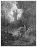 Sacrifícios expulsados de Eden ilustração royalty free