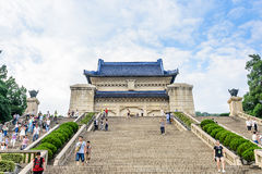 The sacrifical hall and Steps Royalty Free Stock Images
