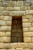 Sacrifice niche at Machu Picchu, Peru. Sacrifice niche at an Inca temple in Machu Picchu, Peru stock image