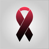 Sacrifice ribbon on gray background Stock Photos