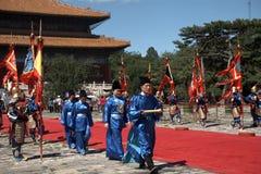 Sacrifice ritual, Changping, China. Medieval sacrifice ritual in Changping, China royalty free stock photography