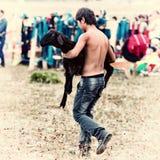 Sacrifice shamans on Olkhon Stock Photos