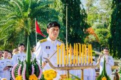 Sacrifice soul heroic people Bangrachan. SING BURI, THAILAND - FEBRUARY 4 : Chalothon Prakord Governor of Sing Buri  respecting soul heroic people of Bangrachan Stock Photo