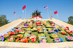 Sacrifice soul heroic people Bangrachan. SING BURI, THAILAND - FEBRUARY 4 : Bangrachan Heroes Monument (defence the nation was 277 years ago) on February 4 Royalty Free Stock Images