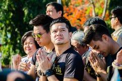 Sacrifice soul heroic people Bangrachan. SING BURI, THAILAND - FEBRUARY 4 : Somchai K. was respecting soul heroic people of Bangrachan (defence the nation was Stock Images