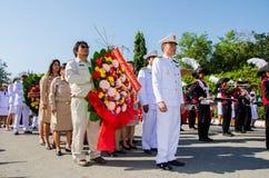 Sacrifice soul heroic people Bangrachan. SING BURI, THAILAND - FEBRUARY 4 : Unidentified bureaucrat of Sing Buri  respecting soul heroic people of Bangrachan ( Royalty Free Stock Image
