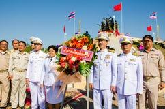 Sacrifice soul heroic people Bangrachan. SING BURI, THAILAND - FEBRUARY 4 : Unidentified bureaucrat of Sing Buri  respecting soul heroic people of Bangrachan ( Stock Image