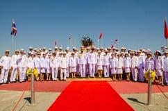 Sacrifice soul heroic people Bangrachan. SING BURI, THAILAND - FEBRUARY 4 : Unidentified bureaucrat of Sing Buri  respecting soul heroic people of Bangrachan ( Royalty Free Stock Images