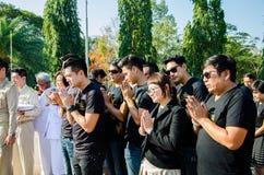 Sacrifice soul heroic people Bangrachan. SING BURI, THAILAND - FEBRUARY 4 : Unidentified people was respecting soul heroic people of Bangrachan (defence the Stock Photos