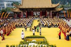Sacrificial ceremoni för Confucius Arkivfoto
