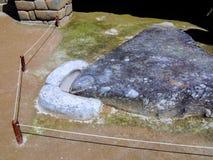 Sacrificial stone Incas Machu Picchu World Heritage Site, Peru Royalty Free Stock Images