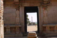 Sacrificial stone in Vishnu's temple in Hampi Royalty Free Stock Images