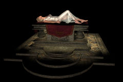 Sacrificial virgin on altar Royalty Free Stock Photography