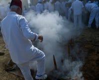 Sacrificio di Passover del samaritano Fotografie Stock Libere da Diritti