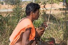 Sacrificio hindú del hombre y del animal Fotos de archivo libres de regalías