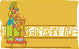 Sacrificio maya de la sangría ilustración del vector